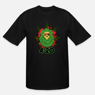 Regge Lion 420 Glasses - Men's Tall T-Shirt