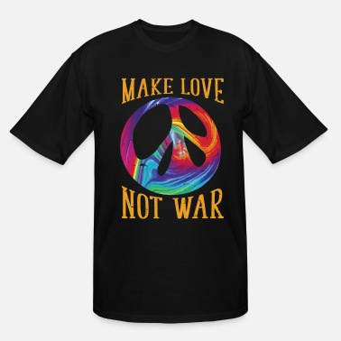 Warmth Symbols Make Love Not War - Peace Dove Symbol T-Shirt - Men's Tall T-Shirt