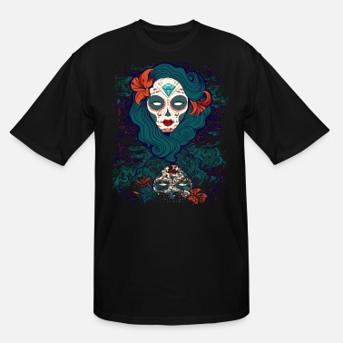 Day Of The Dead Day of the Dead Sugar Skull - Men's Tall T-Shirt