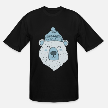 Winter polar bear Ice Bear Icebear Winter Winter Hat gift - Men's Tall T-Shirt