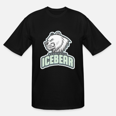 Aggressive aggressive icebear - Men's Tall T-Shirt