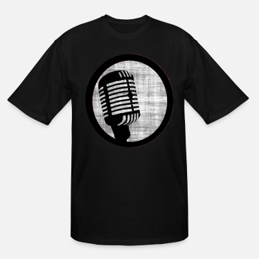 Microphone Jokes Microphone Check - Men's Tall T-Shirt