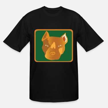 Brown People The Brown Dog - Men's Tall T-Shirt