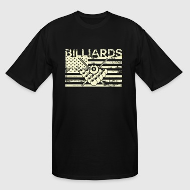 Billiards USA - pool gaming flag - Men's Tall T-Shirt