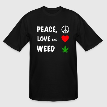 Cannabis Peace Peace Love and Cannabis - Men's Tall T-Shirt