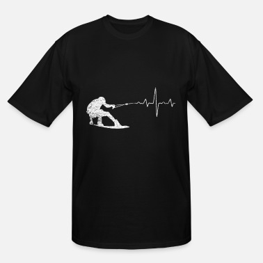 Wakeboard Wakeboarding Heartbeat - Men's Tall T-Shirt