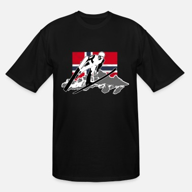 Norway Skijumping - Norway Flag - Men's Tall T-Shirt