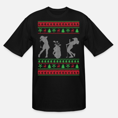 Ugly Christmas Golf Golf Ugly Christmas Sweaters - Men's Tall T-Shirt