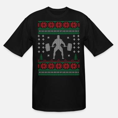 d73a1472 Meme Weightlifting Mens Weightlifting Christmas Sweater - Men's Tall T- Shirt