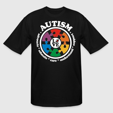 LOVE Autism Awareness Drk - Men's Tall T-Shirt