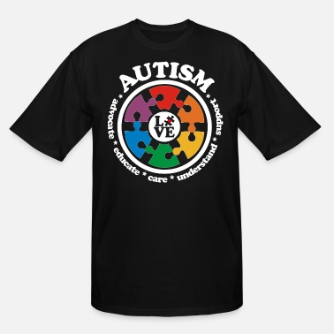 Autism Awareness Day LOVE Autism Awareness Drk - Men's Tall T-Shirt