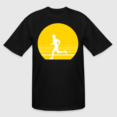 running sundown - Men's Tall T-Shirt