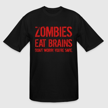Zombie Eat Brains ZOMBIE EAT BRAINS - Men's Tall T-Shirt