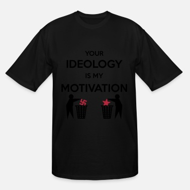 Fascism Ideology vs. Motivation - Men's Tall T-Shirt