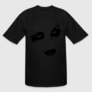 Face Gothic Zombie - Men's Tall T-Shirt