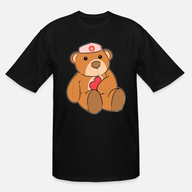 Nurse Bear Teddy Bear Love Bear Nurse Loving gift - Men's Tall T-Shirt