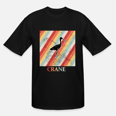 Retro Grunge crane - Men's Tall T-Shirt
