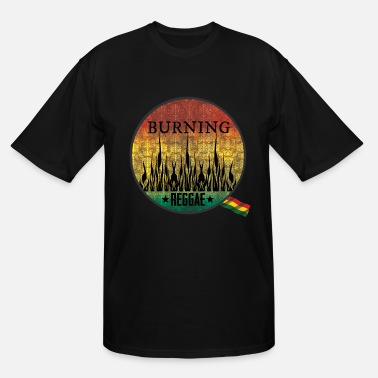 Ragga Bob burning raggae - Men's Tall T-Shirt