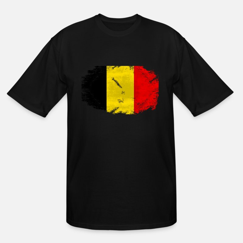 Belgium T-Shirts - Belgium Flag - Men's Tall T-Shirt black