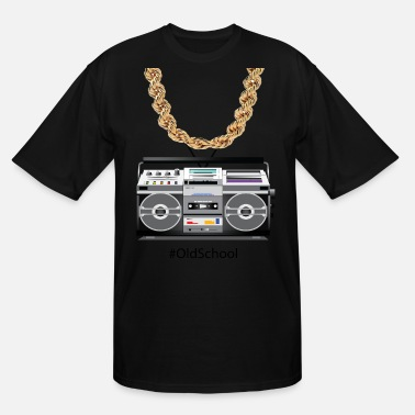 School old school box and chain - Men's Tall T-Shirt