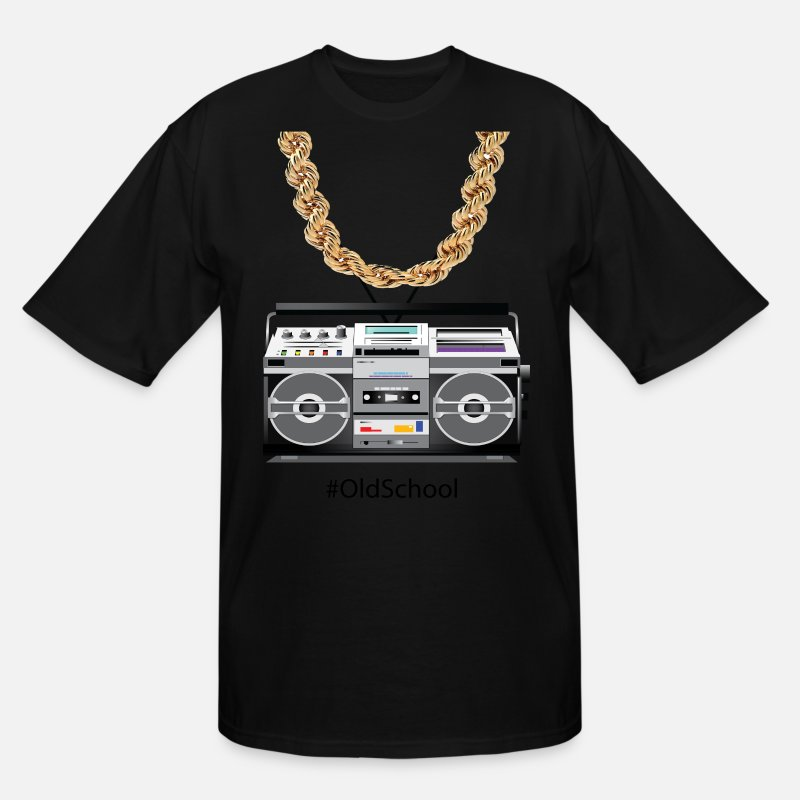 Old T-Shirts - old school box and chain - Men's Tall T-Shirt black