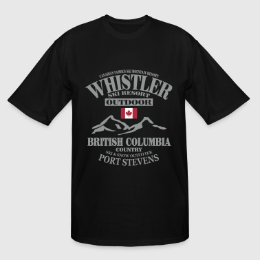 Canada Ski Flag Whistler - Canada Ski Resort - Men's Tall T-Shirt