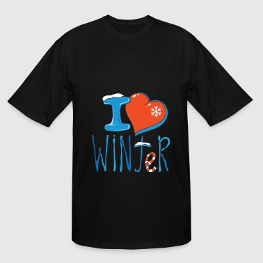 I love winter - Men's Tall T-Shirt