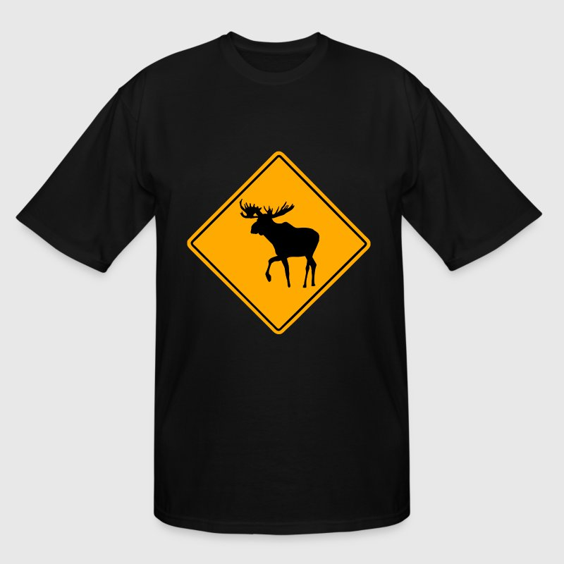 Moose Road Sign - Men's Tall T-Shirt
