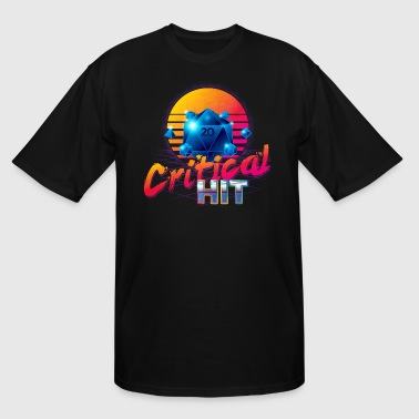 Critical Hit Dungeons Fantasy Outrun Design - Men's Tall T-Shirt