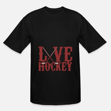 I-bully-boys I love hockey ice gift - Men's Tall T-Shirt