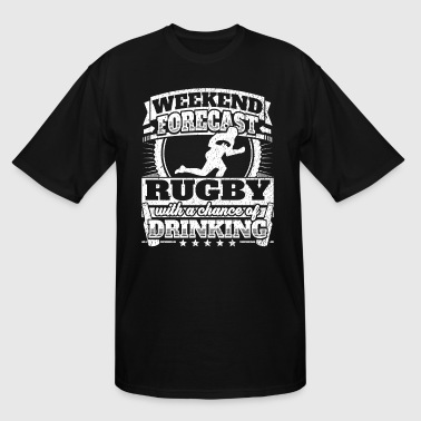 Weekend Rugby Forecast Weekend Forecast Rugby Drinking Tee - Men's Tall T-Shirt