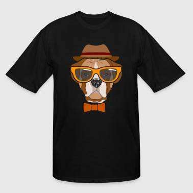 Funky Dog funky dog glasses hat gift love play walk mate - Men's Tall T-Shirt