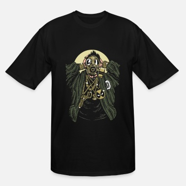 Bling Cool Gangsta Gasmask and Bling Bling - Men's Tall T-Shirt