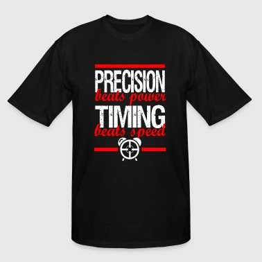 PRECISION BEATS POWER CONOR MCGREGOR MMA ALDO GYM - Men's Tall T-Shirt