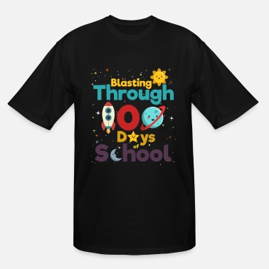 School 100 Days of School for Kindergarten Elementary - Men's Tall T-Shirt