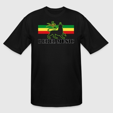 Conquering Lion Of Judah Reggae - Rebel Music w/ The Lion of Judah - Rasta - Men's Tall T-Shirt