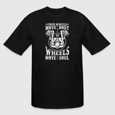 Move Motorcycles 2 Wheels Move the Soul - Biker Motorcycle Rocker - Men's Tall T-Shirt