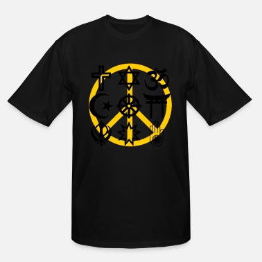 Islam Symbol World religions with peace symbol - Men's Tall T-Shirt