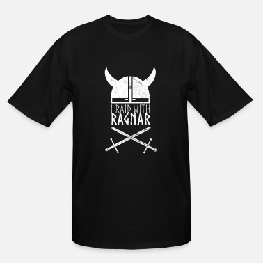 Warrior Dash I Raid With Ragnar Viking Swords And Helmet - Men's Tall T-Shirt