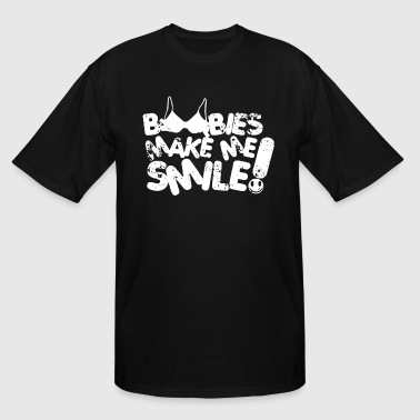 Breast Comedy Boobies Make Me Smile Boobs Rude Breasts Comedy Te - Men's Tall T-Shirt