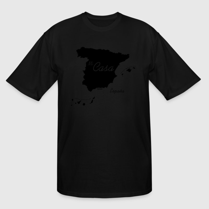 Mi Casa Camiseta, Espana, Spain, Black - Men's Tall T-Shirt