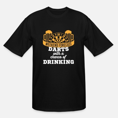 Darts Quotes Dart & Beer Lover Darts with a Chance of Drinking - Men's Tall T-Shirt