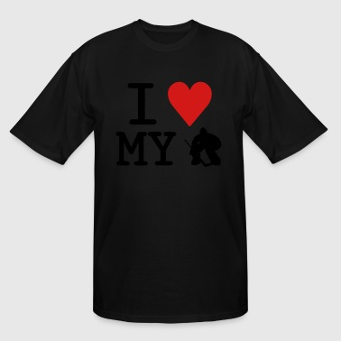 I Love My Goalie (hockey) - Men's Tall T-Shirt