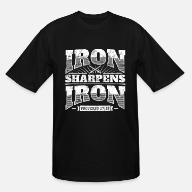 Christian Cool christian shirt: Iron Sharpens Iron - Men's Tall T-Shirt