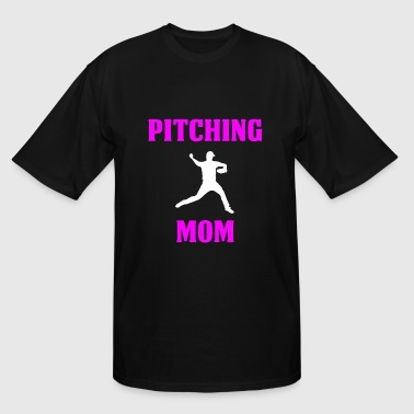 Hit Pitch Pitching Mom Design - Men's Tall T-Shirt
