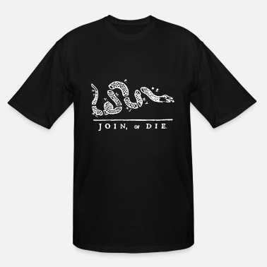 Die Mens Black Join Or Die Snake Rothco Cotton Patriot - Men's Tall T-Shirt