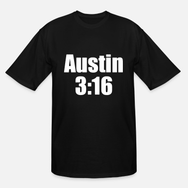 Steve Austin 3 16 Black Stone Cold Steve John Champ Bada - Men's Tall T-Shirt