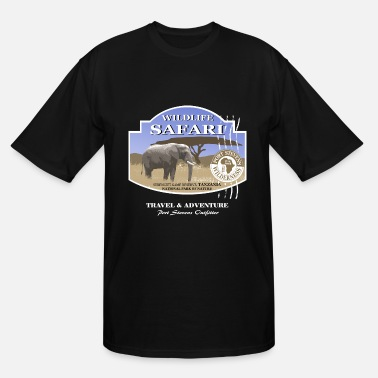 African Wildlife Safari Elephant Safari Wildlife - Men's Tall T-Shirt