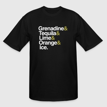 Cocktail Recipe Tequila Sunrise - Men's Tall T-Shirt