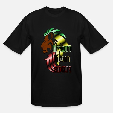 Iron Metal Reggae music, rastafari, Iron, lion, zion metal - Men's Tall T-Shirt